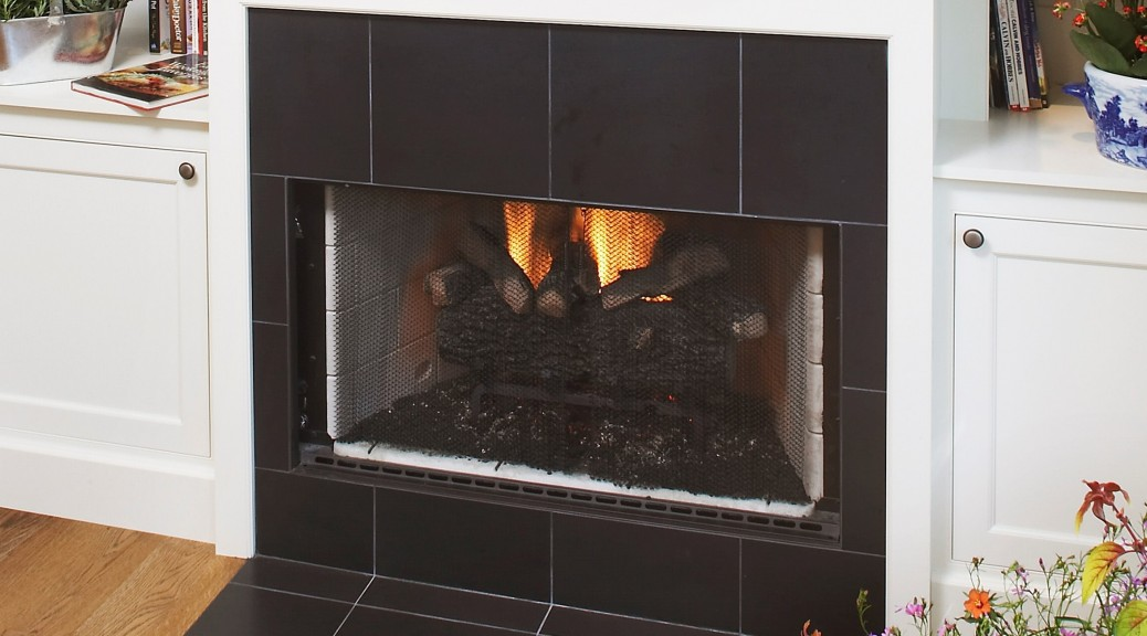 Dual Use Fireplace with Granite Surround and Hearth (2)