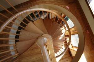 downward spiral stair