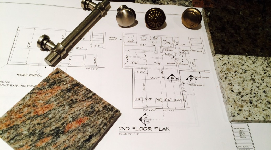 blueprints with granite